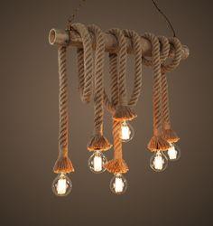 Deckenlampen - Recycling - Deckenleuchte - Seilampe - ein Designerstück von Wunschmacher bei DaWanda