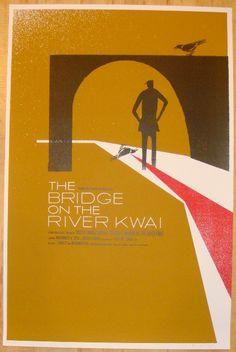 The Bridge on the River Kwai movie poster by Patent Pending - Alamo Drafthouse - Gallery Film Poster Design, Movie Poster Art, New Poster, Film Posters, Poster Designs, Mondo Tees, Badass Movie, Oscar Winning Films, Alamo Drafthouse