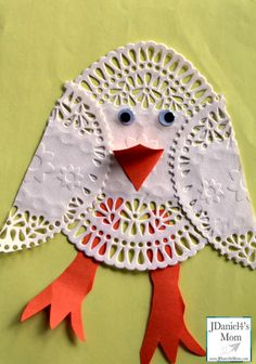 easter arts and crafts- doily chick