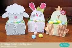 My Happy Place: Lori Whitlock: Easter Belly Boxes. Files by Lori Whitlock. - My Happy Place: Lori Whitlock: Easter Belly Boxes. Files by Lori Whitlock. Done using some Bella Bl - Happy Easter, Easter Bunny, Easter Projects, Paper Easter Crafts, Easter Treats, Easter Party, Paper Gifts, Spring Crafts, Easter Baskets