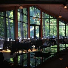 Located in Troutdale, Riverview Restaurant is positively lovely. Huge, elegant windows let in rays of sunlight filtered through the treetops just outside. Inside, you'll be greeted by the the cozy crackling of wood-burning fireplaces, and the beautiful tinkering of live piano music.