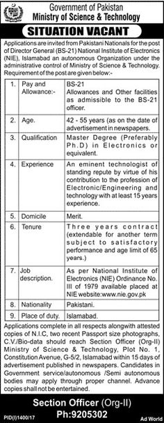 Ministry Of Commerce And Textile Jobs  In Islamabad For
