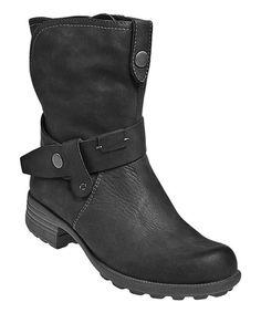 Black Belinda Leather Boot
