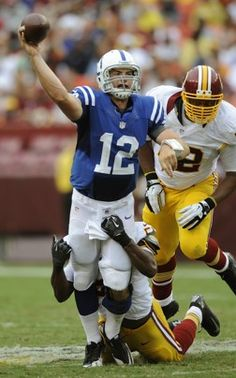 """Colts' Luck gets 1 more chance to work out preseason kinks before making NFL debut"" Washingtin Post (August 28, 2012)"