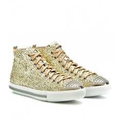 Sneakers glitter Miu Miu
