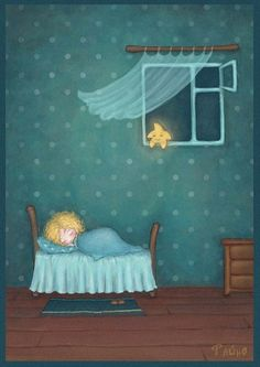Sweet dreams, little one. The stars shall watch over you. Good Night Moon, Good Morning Good Night, Art And Illustration, Nighty Night, Twinkle Twinkle Little Star, Moon Art, Whimsical Art, Stars And Moon, Sweet Dreams