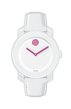 Movado 'Bold' Crystal Dot Leather Strap Watch, 36mm available at #Nordstrom