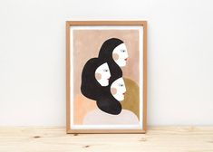 Sisters  illustration by depeapa print poster A4 wall art
