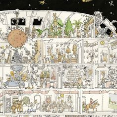 Mattias Adolfssons Manically Detailed Sketches and Doodles