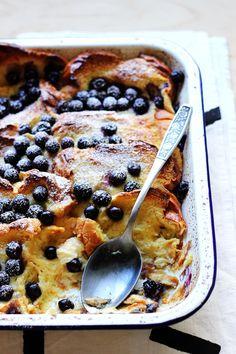 """Baked Blueberry French Toast """