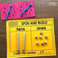 Place Value Math Center activities to teach students how to write, model and draw 2-digit numbers using tens and ones.