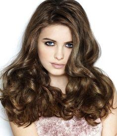 Ladies Long Length Brown Hairstyle
