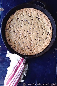 Skillet Chocolate Chip Cookie | TidyMom