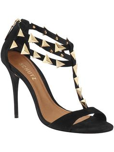 Today's So Shoe Me is the Akshya Sandal by Schutz,$220 $150, available at Piperlime. Slip into these sleek studded staples for an everyday little black sandal that will add a modern Midas touch.