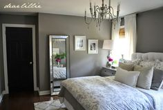 In the last couple of weeks we have finally gotten around to adding a few small details to our gray guest bedroom. First, we did kind o...