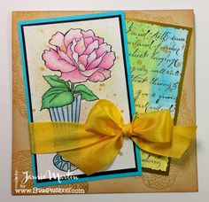 Stamp This!: Vase Bloom from #Stampendous.  By Jamie Martin. #cre8time