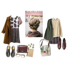 nameless by juliefromthemoon on Polyvore featuring Topshop, MANGO, Chicnova Fashion, Kate Spade Saturday, CHARLES & KEITH, Dr. Martens, Garrett Leight and Muji