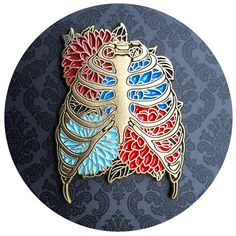 Floral Rib Cage Enamel Pin New Variants