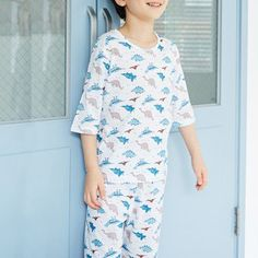Comfy Allover Dino Pattern Pajamas for Toddler Boy and Boy