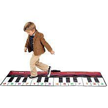 "FAO Schwarz Big Piano by FAO SCHWARZ. $98.95. Soft, 24-Key, Dance-on Piano. Ages 3+. Play 10 Prerecorded Songs or Record and Playback Original Compositions in a Choice of 8 Instrument Sounds. FAO Schwarz Big Piano. 70"" Long. The FAO Schwarz Big Piano is Famous FAO fun! They'll be ready for the ""big"" time with this soft, 24-key, dance-on piano. Kids can dance their own tunes, play 10 prerecorded songs or record and playback original compositions in a choice of 8 instrument so..."