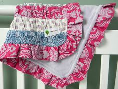 Ruffled Baby Blanket tutorial from 2 Little Hooligans #sew #diy #tute