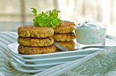 Zucchini-Potato Cakes with Yogurt-Lemon Sauce - Olive Oil and Lemons