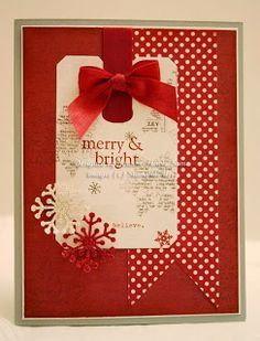 Merry and Bright Christmas handmade card
