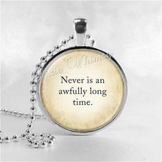 PETER PAN Necklace Peter Pan Jewelry Glass Photo by PixieWhimsy, $8.95