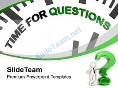 Clock With Tag Time For Questions PowerPoint Templates PPT Backgrounds For Slides 0213 #PowerPoint #Templates #Themes #Background
