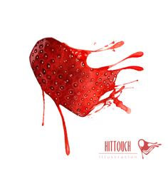 Strawberry heart by Hector San Andres, via Behance