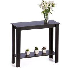 Hallway Table Side Console Modern Living Furniture Black Home Business New in Home & Garden, Furniture, Tables Hallway Furniture, Black Furniture, Classroom Furniture, Black Accent Table, Black Table, Accent Tables, Black Hallway, Coffee Table To Dining Table, Kmart Home