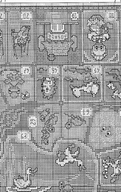 tengo muchos patrones de punto de cruz. (pág. 35)   Aprender manualidades es facilisimo.com Cross Stitch Games, Rubrics, Embroidery, Cross Stitch Pictures, Flower Chart, Bathroom Towels, Board Games, Needlepoint, Tabletop Games