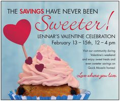 Fall in love with Lennar this Valentine's Day weekend! We're offering a sweetheart of a deal – with Quick Delivery, Ready-to-own homes in Ashburn, Fairfax, Woodbridge, Fredericksburg and Williamsburg starting in the $270's! Get up to $40,000 in SWEET upgrades and up to $10,000  closing costs*.  Now is the time to buy…so don't wait! For more info- click the photo!