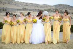romantic yellow bridesmaid dresses - Google Search