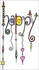 "HAPPY - HANDCRAFTED ""WIND CHIME"" DESIGN FRIDGE MAGNET"