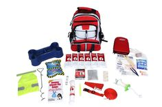This Dog Survival Kit is packaged in our red Backpack and has been designed to provide your pet with all of the necessary items to survive if you are ever forced to evacuate. By owning this survival k