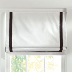 The Stunning White Roman Shades Designs with Suite Ribbon Cordless Roman Shade With Blackout Lining Pbteen 25280 above is one of pictures of home decoratin Teen Curtains, Bedroom Drapes, Bedroom Windows, White Curtains, Blinds For Windows, Window Blinds, Windows Decor, Window Coverings, Window Treatments