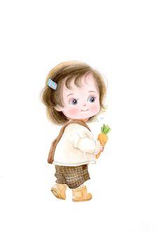 Cute Cartoon Pictures, Cute Cartoon Drawings, Girly Drawings, Cute Cartoon Girl, Anime Girl Drawings, Cartoon Pics, Cute Love Wallpapers, Cute Cartoon Wallpapers, Baby Girl Drawing