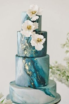 36 Trendy Marble Wedding Cakes ❤ stone like effect wedding cakes #weddingforward #wedding #bride #weddingcakes