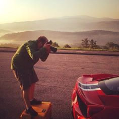 With the #SmokyMountains as a backdrop, Hollis Bennett shoots the #Ferrari458. #auto #exotic #photography