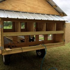 Below we have 44 free DIY hencoop plans with straightforward step by step instructions. we'll conjointly offer you some general pointers concerning coops to assist sleek the trail for you. Chicken Coop On Wheels, Mobile Chicken Coop, Chicken Coop Pallets, Diy Chicken Coop Plans, Portable Chicken Coop, Chicken Coops, Chicken Barn, Chicken Houses, Duck House Plans