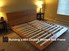 Build a Mid Century Modern Bedframe