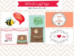 La douceur du miel: Illustrations for children and never grown up people: Free printable Valentine gift tags and brand new ones!