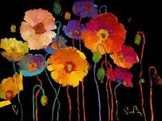 Love vibrant color on black