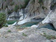 Natural pools in Purcaraccia, Corsica.