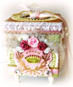 RESERVED FOR CHELSEA Dreamy Shabby Chic by BlissfulBoxes on Etsy