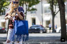 Street style - By jaiperdumaveste - JPMV - Nabile Quenum. // Tetya Motya wearing Chanel and Gucci during Paris fashion week spring Summer Spring Summer 2015, Street Style, Street Chic, Drawstring Backpack, Bucket Bag, Gucci, Chanel, How To Wear, Paris Fashion