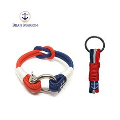 Bran Marion Red, White and Blue Nautical Bracelet and Keychain sold by Bran Marion. Shop more products from Bran Marion on Storenvy, the home of independent small businesses all over the world. Nautical Bracelet, Nautical Jewelry, Marine Rope, Handmade Bracelets, Jewelry Collection, Red And White, Accessories, Things To Sell, Car Keys