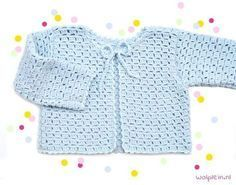 Want to crochet a kids cardigan? This summer model made of byClaire Sparkle will make your kids stand out from the crowd. Get the free pattern here! Crochet Baby Sweater Pattern, Crochet Baby Sweaters, Baby Sweater Patterns, Crochet Baby Clothes, Cute Baby Clothes, Baby Patterns, Crochet Patterns, Cardigan Pattern, Moda Crochet