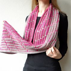 A nice cowl to set of two contrasting colours by Maliha desins